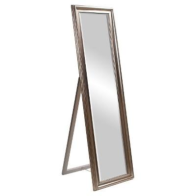 Rectangle Taylor Floor Mirror Light Silver - Howard Elliott