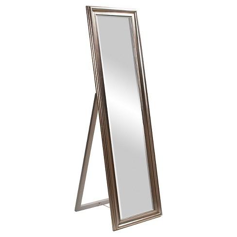 Rectangle Taylor Floor Mirror Light Silver - Howard Elliott - image 1 of 1