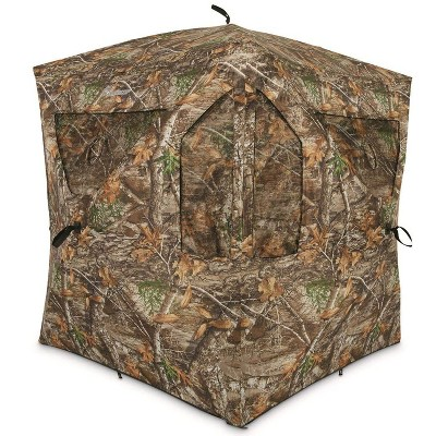 Plano AMEBL3029 Ameristep Outdoor 3 Person Brickhouse Ground Deer Duck Hunting Blind, Camouflage