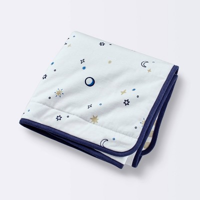 Jersey Knit Blanket Stars - Cloud Island™ White/Blue