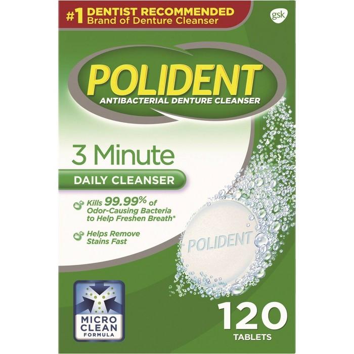 Polident Denture Cleaner Tablets - 120ct : Target