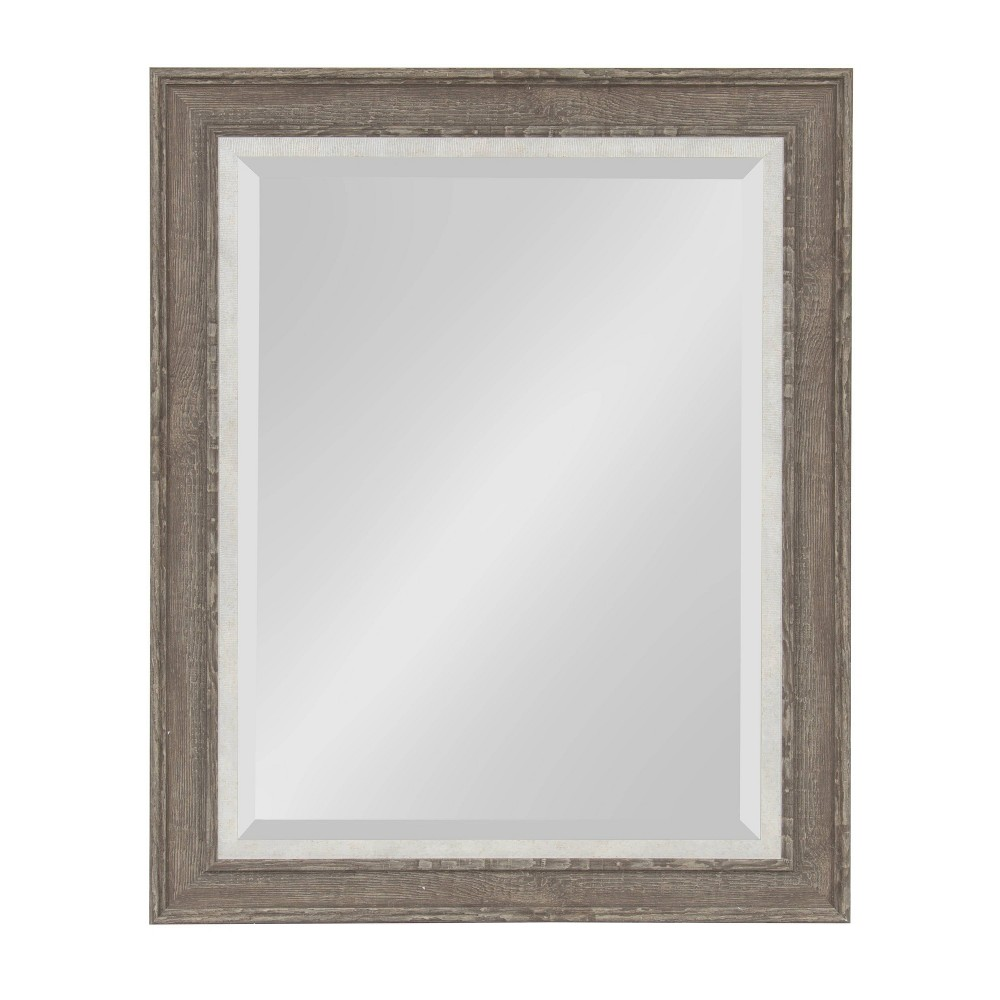 """Image of """"23.5""""""""x29.5"""""""" Woodway Framed Wall Mirror Gray - Kate and Laurel"""""""