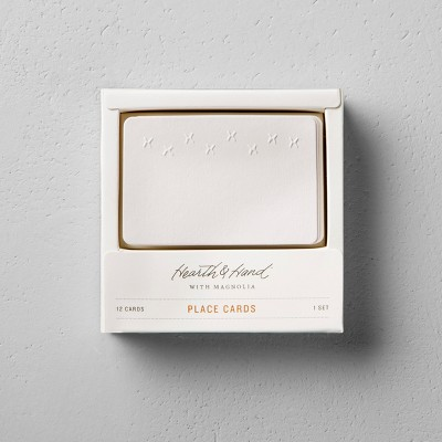 Blank Place Cards (12ct)- Cream - Hearth & Hand™ with Magnolia