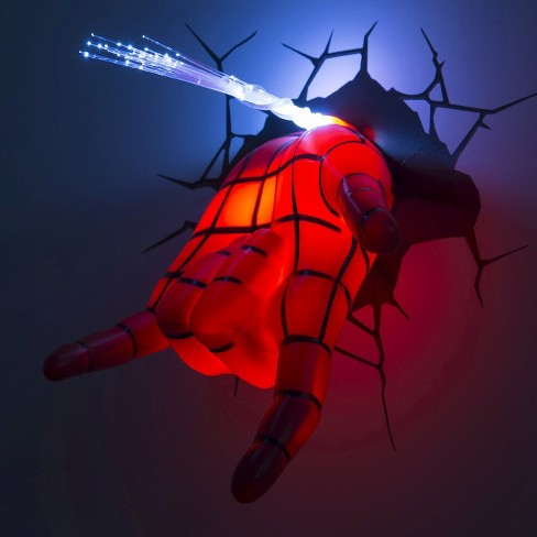 Marvel 3D Wall Night LED Light - Spider-Man Hand : Target