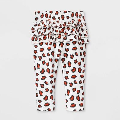 Baby Girls' Leggings - Cat & Jack™ Peach/White 3-6M
