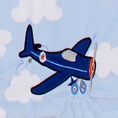 Carter's Take Flight Airplane/Cloud Applique Baby Blanket