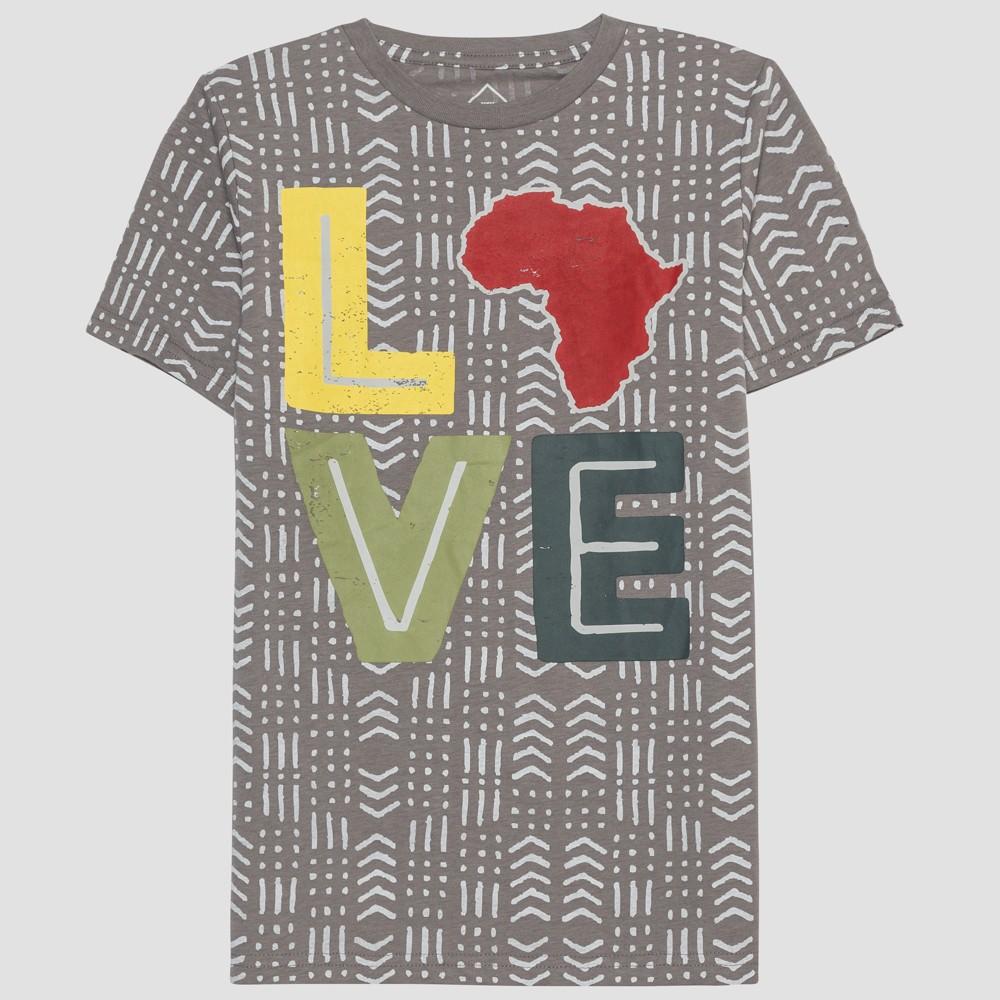 Well Worn Kids' Short Sleeve Love T-Shirt - Cement M, Kids Unisex, Gray