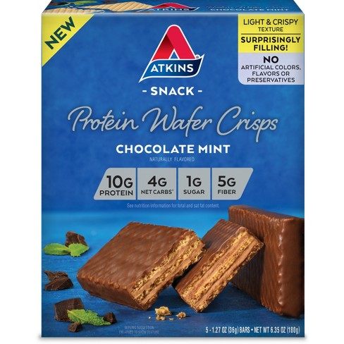 Atkins Protein Wafer Crisps - Chocolate Mint - 5ct - image 1 of 1