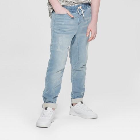 38c5441a Boys' Knit Denim Jogger Pants - Art Class™ Light Indigo : Target