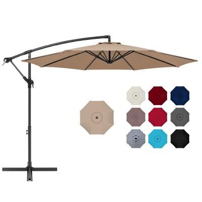 Best Choice Products 10ft Offset Hanging Outdoor Market Patio Umbrella w/ Easy Tilt Adjustment