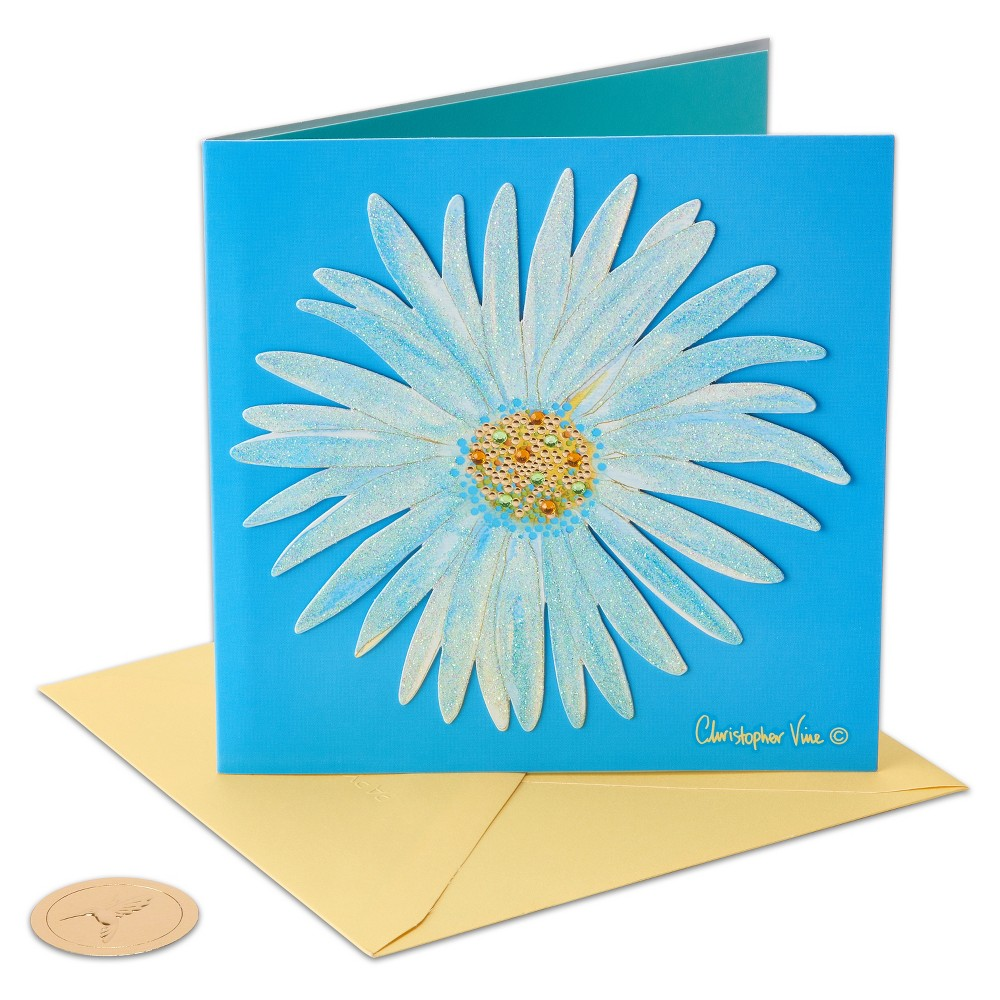 Papyrus Flower Greeting Card, Multi-Colored
