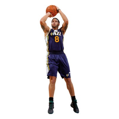 Deron Williams Fathead Jr NBA Basketball Player Wall Accent Sticker - Utah Jazz..