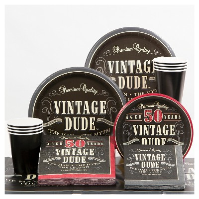 50th Birthday Vintage Dude Party Supplies Collection Target