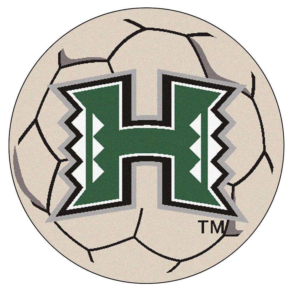 NCAA 27 Soccer Ball Mat Hawaii Rainbow Warriors