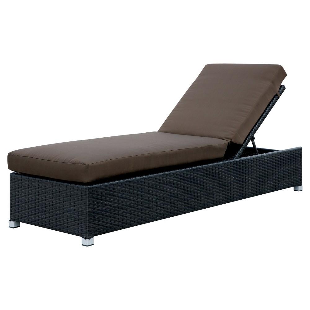 Devyn Modern Patio Chaise with Adjustable Back - Brown - Furniture of America, Dark Brown