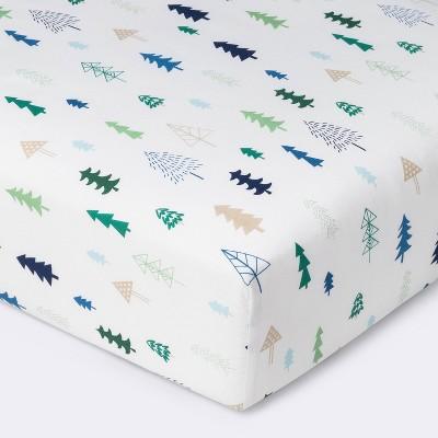 Crib Fitted Sheet Trees - Cloud Island™ Blue