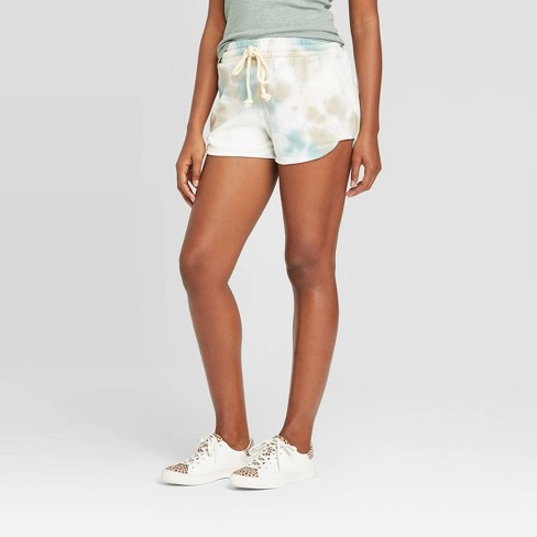 Women's Mid-Rise Tie-Dye French Terry Shorts - Universal Thread™ - image 1 of 3
