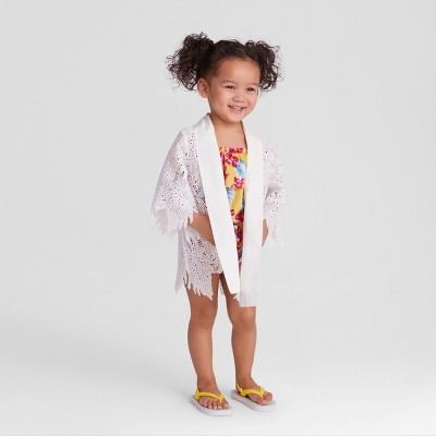 Genuine Kids® from OshKosh Toddler Girls' Lace Kimono - Cream 18M