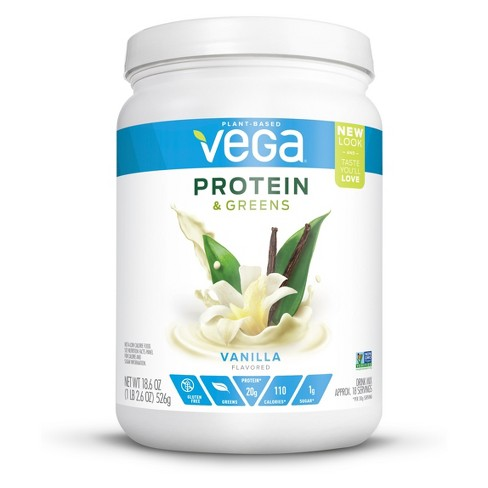 Vega Protein and Greens Tub Drink Mix - Vanilla - 18.6oz - image 1 of 2