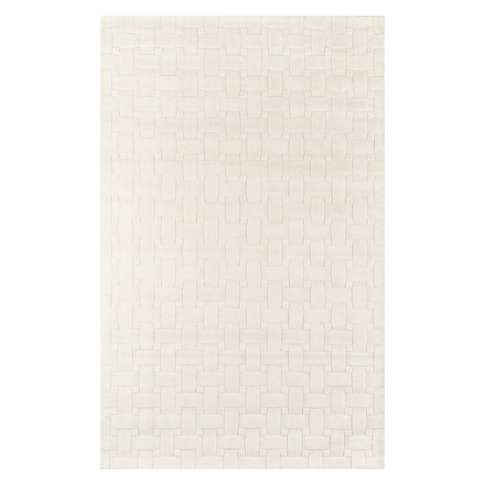 """Image of """"2'3""""""""X3'9"""""""" Solid Tufted Accent Rug Ivory - Momeni"""""""