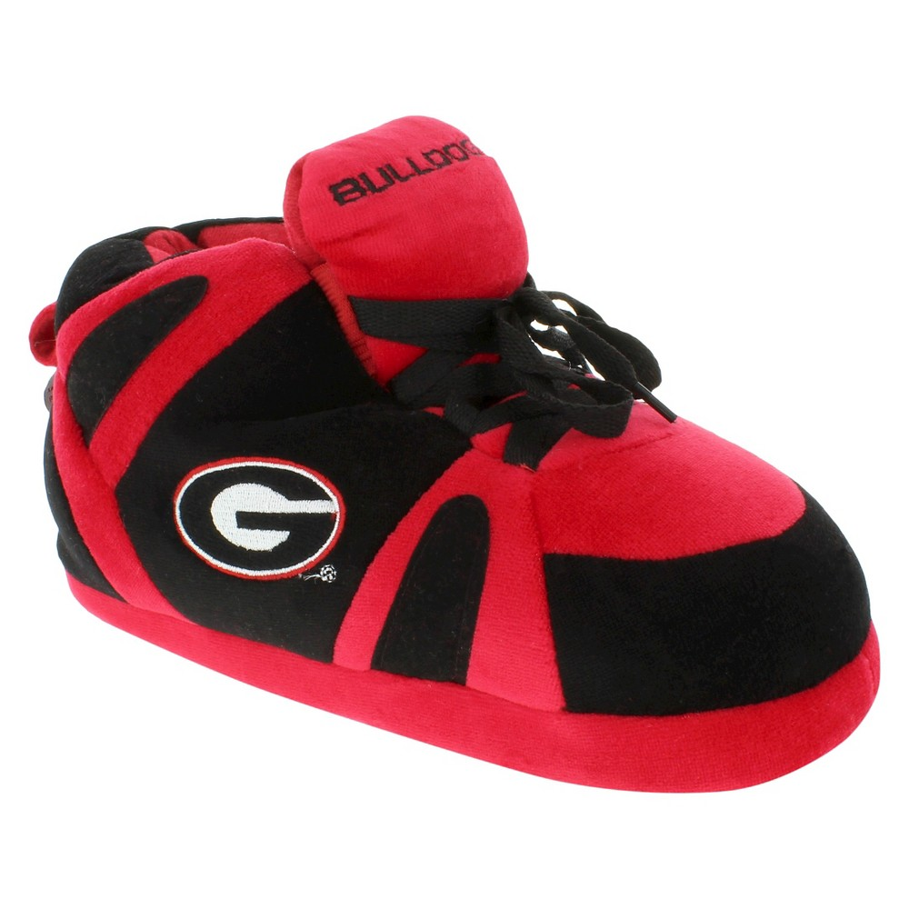 NCAA Georgia Bulldogs Adult Comfy Feet Sneaker Slippers - Red/Black L, Adult Unisex, Multicolored