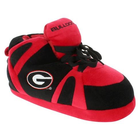 cd5f99ce0e1f6 NCAA Georgia Bulldogs Adult Comfy Feet Sneaker Slippers - Red Black