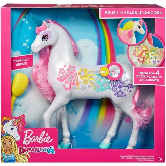 Barbie Dreamtopia Brush 'n Sparkle Unicorn image number null