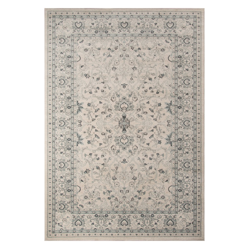 710x910 Floral Loomed Area Rug Ivory Momeni