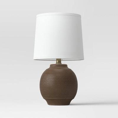 Antique Textural Ceramic Accent Lamp Brown - Threshold™