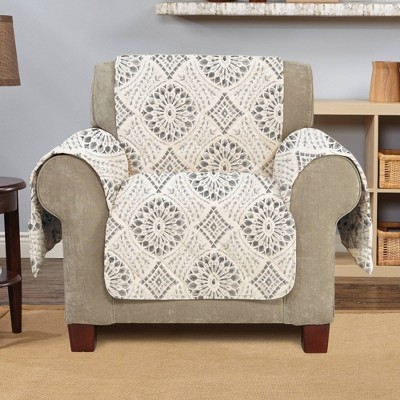 Medallion Printed Chair Furniture Protector Cover - Sure Fit