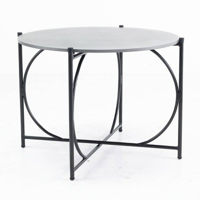 """Alburgh 30"""" Round Bistro Table - Charcoal - Alaterre Furniture"""