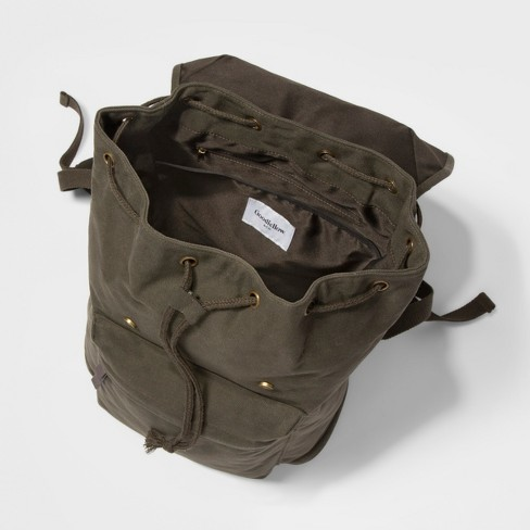 4b09b4e63b32 Men s Canvas Backpack - Goodfellow   Co™ Dark Green   Target