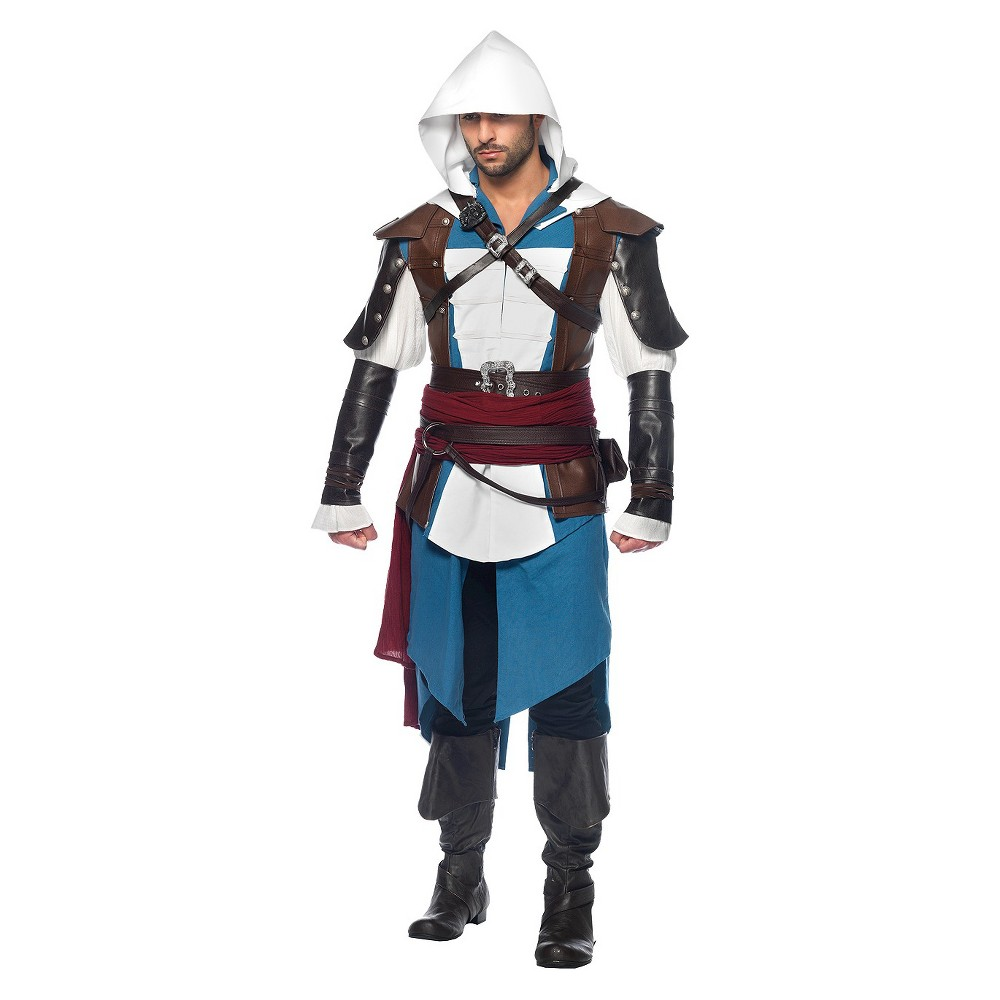 Image of Halloween Men's Assassins Creed Edward 9Pc Costume - XL, Size: XL, Blue