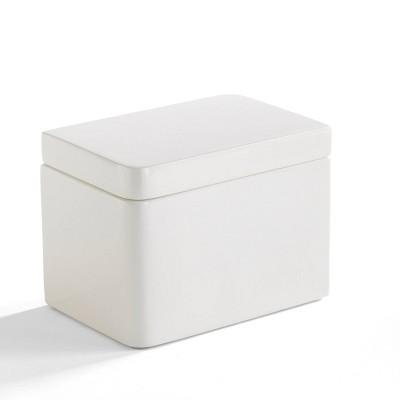Lacquer Cotton Jar White - Cassadecor