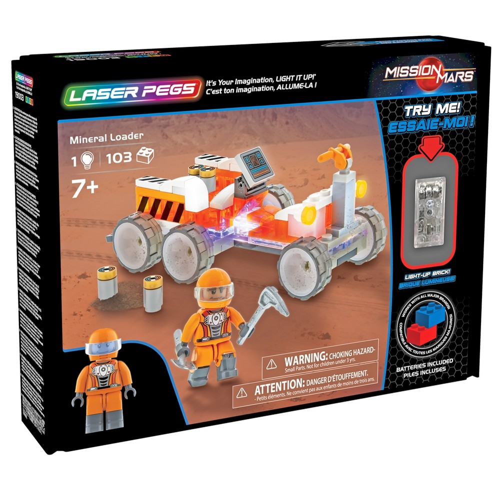 Laser Pegs Mineral Hauler Toy Vehicle Playset - 102pc