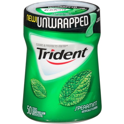Trident Unwrapped Spearmint Sugar-Free Gum - 50ct - image 1 of 1