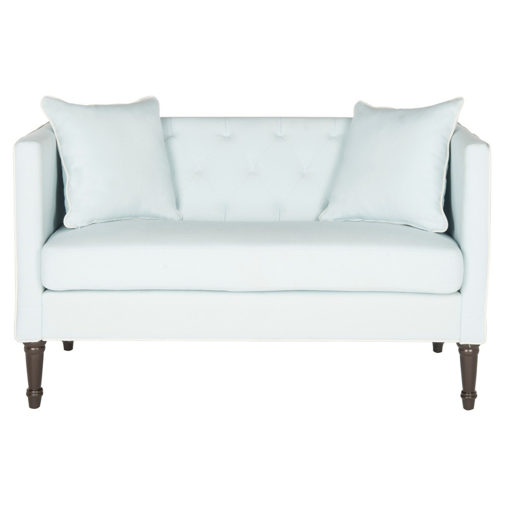 Sarah Tufted Settee - Blue/White - Safavieh Buy