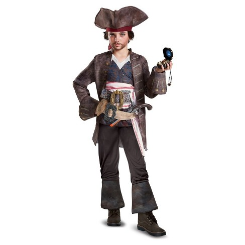 Boys Pirates of the Caribbean 5 Captain Jack Deluxe Costume - image 1 of 1