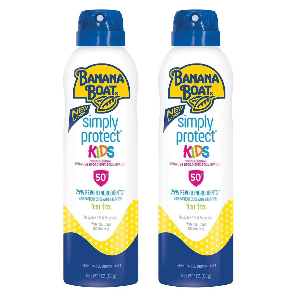 Image of Banana Boat Simply Protect Kids Sunscreen Spray Twinpack - SPF 50 - 12oz