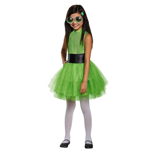 Girls Powerpuff Buttercup Tutu Deluxe Costume - image 1 of 1