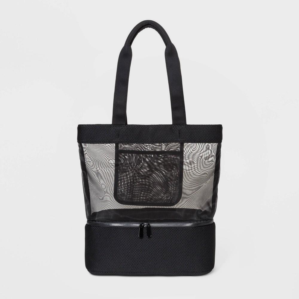 Image of Mesh Tote Handbag - Shade & Shore Black