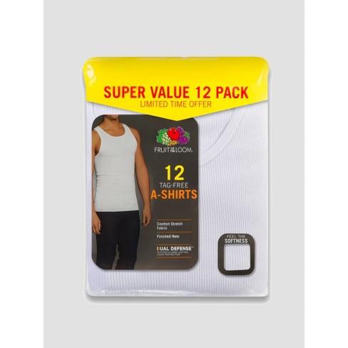 Fruit of the Loom Men's 6+6 Super Value Pack Tank Undershirt - White - image 1 of 3