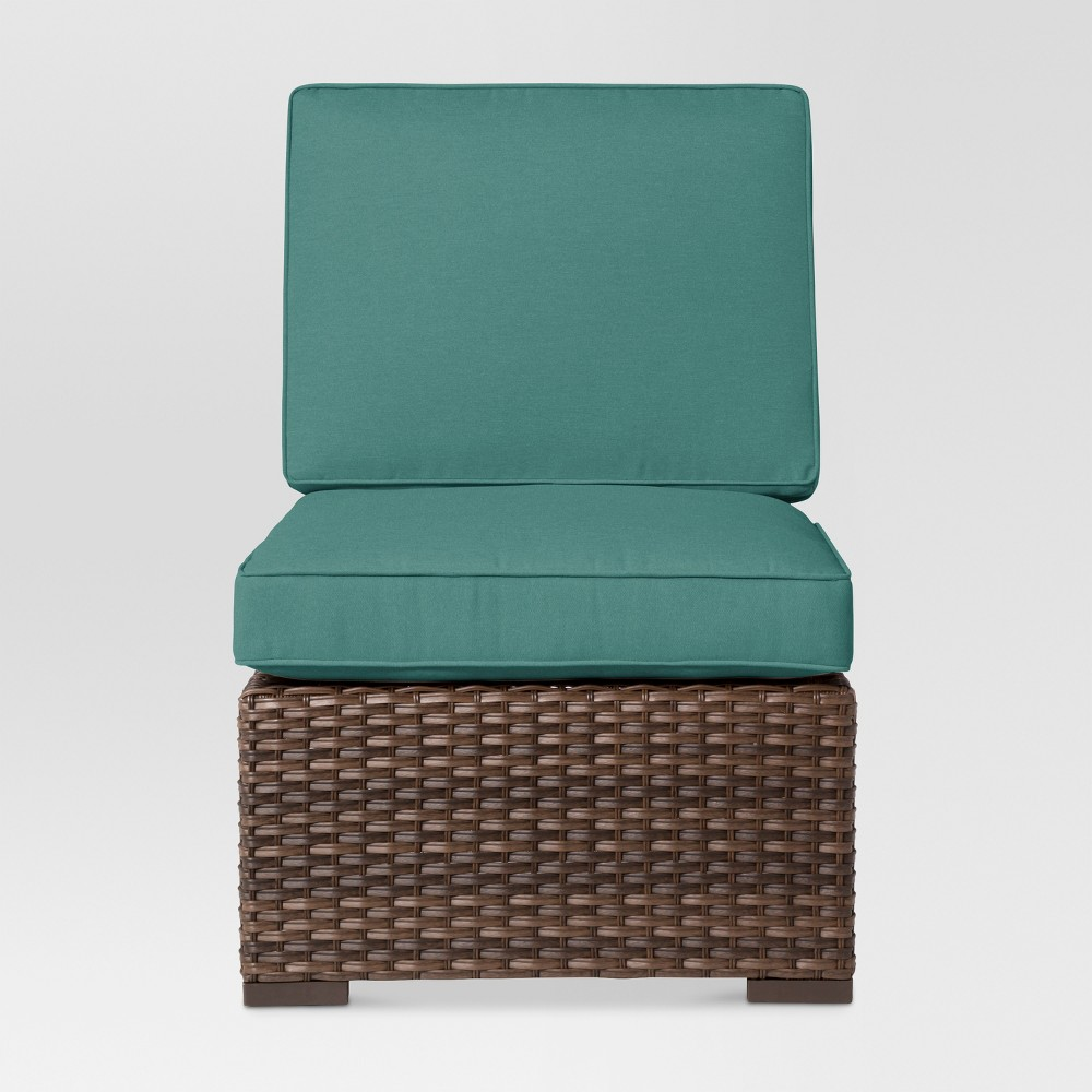 Halsted Wicker Patio Armless Sectional Seat - Turquoise - Threshold