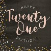 """Sparkle and Bash 100Pcs Happy 21st Birthday Party Paper Disposable Napkins 6.5"""" Birthday Decorations, Party Supplies - image 2 of 3"""
