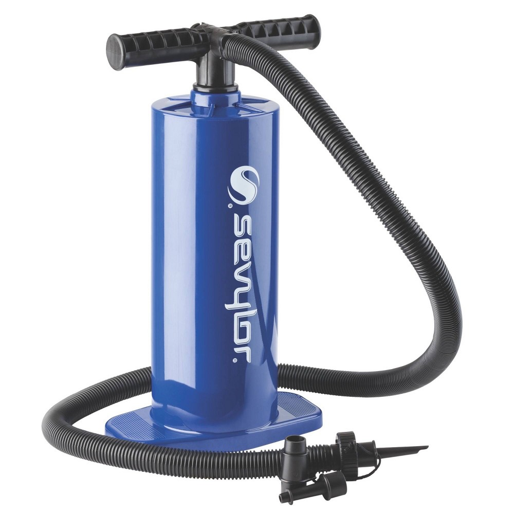 Image of Coleman Dual Action Hand Pump - Blue, Yellow