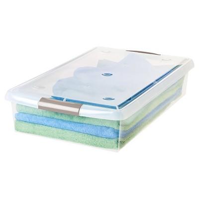 IRIS 40 Qt. Sliding Plastic Storage Bin