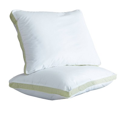 Queen 2pk Medium Quilted Sidewall Bed Pillow - Perfect Fit