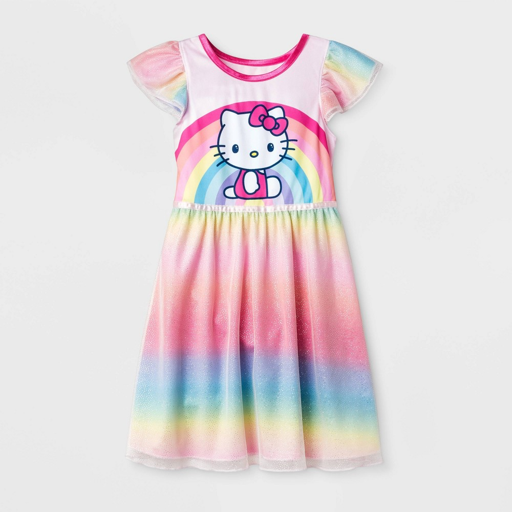 Image of Toddler Girls' Hello Kitty Pajama Nightgown - Pink 2T, Girl's