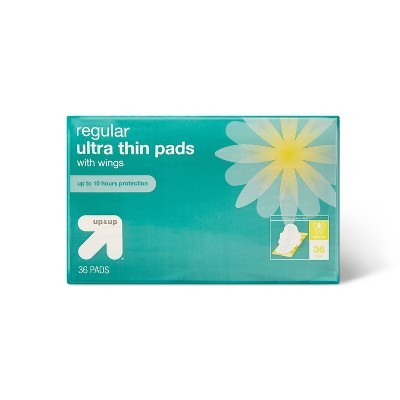Ultra Thin Regular Pads with Wings - 36ct - up & up™