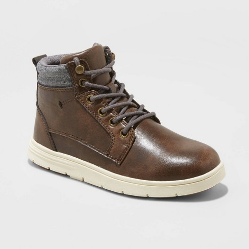 Boys' Loretto Fashion Boots - Cat & Jack™ Brown - image 1 of 3